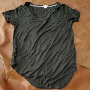 Short Sleeve V Neck Jersey Top